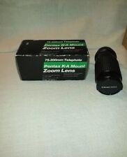 75-200mm Toyo Telephoto Lens for Pentax K-A Mount Zoom Lens NIB  f/4.5 w/box