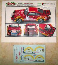 PORSCHE 911 TURBO RALLYE MONTE CARLO 1978 CLAUDE HALDI DECALS ARENA