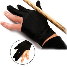 1x Snooker Billiard Cue Glove Pool Left Hand 3 Finger Accessory Durable Black