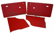 CLASSIC MINI 73-96 NEW TRIM INTERIOR KIT RED 2 DOOR 2 REAR QUARTER LINERS AUSTIN