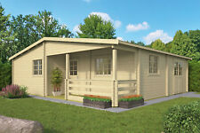 70mm Ferienhaus ISO 941x848 cm Holz Holzhaus Blockhaus Schuppen Hütte Gartenhaus