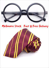 New Harry Potter Gryffindor Set Ties Glasses Hogwarts Hermione Tie Book Week