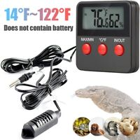Digital Temperature Thermometer Hygrometer With Remote Sensor Inside Outside
