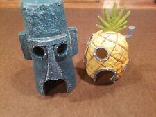 New listing Viacom Spongebob Pineapple House Set Aquarium Fish Tank Decor