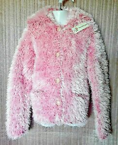 CHILD'S FUNKY FUR WINTER JACKET WITH COLLAR AND POCKETS TO FIT AGE 5 TO 6 YRS