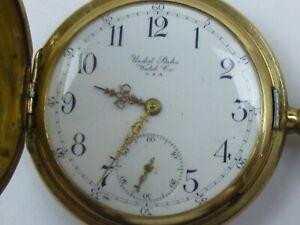 UNITED STATES WATCH Double 3 Deckel Taschenuhr Waltham USA 7 Jewels Bastlerware