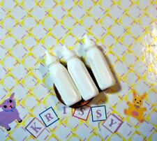 Barbie Accs Kelly Krissy Doll House Diorama Clothes *3 Mini Toy Baby Bottles*