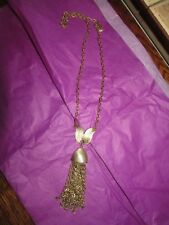 BEAUTIFUL VINTAGE BRUSHED GOLD TONE 1960s NECKLACE