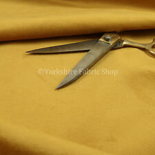 New Soft Textured Pattern Gold Yellow Colour Velvet Upholstery Curtains Fabric