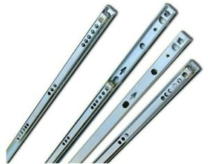 Drawer Slides Runners 17mm Grooved Drawer Ball Bearing Runners 246mm 5 Pairs
