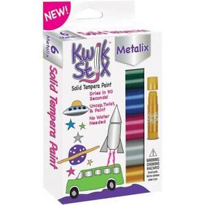 Kwik Stix Tempera Paint 6 pack - Metallic