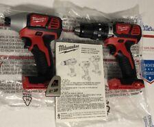"Milwaukee 2607-20 18V Cordless 1/2"" Hammer Drill & 2656-20 1/4"" HexImpact Driver"