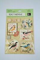 K&Company Susan Winget Nature Bird Dimensional Stickers, Scrapbooking 10 Pcs