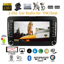 7'' Double Din Car Radio GPS Android 8.1 for VW/Seat +CAM iOS Mirror Link Wifi