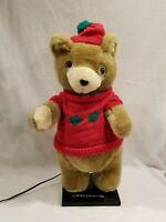 "1988 Ultra International Motionette Animated figure 24"" Christmas Bear Sweater"