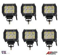 6x 12V 24V 18W LED Trabajo Foco Lámpara Coche Jeep Camión Barco Offroad Atv Caja