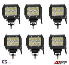 6x 12V 24V 18W LED WORK SPOT LIGHT LAMP CAR JEEP TRUCK BOAT OFFROAD ATV CHASSIS