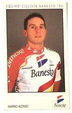 Cartoncino Ciclismo -Equipo Ciclista Banesto 96 -M.Alonso Autografo Sbiadito