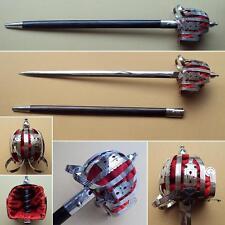 Hand Made Nickel Finish Scottish Basket Hilt Broad Sword. Re-enactment & Sheath