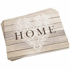 Set of 4 Home Heart Cork Placemats Dining Place Settings Table Mats Shabby Chic