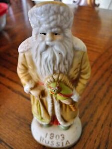 "Porcelain Santas From Around The World 5""  Figure 1903 RUSSIA"