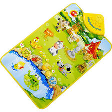 Children Farm Animal Music Touch Play Singing Gym Carpet Mat Toy Gift NEW Gifts