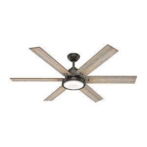 Hunter Fan Company Warrant 60-inch Ceiling Fan with LED Light, Noble Bronze