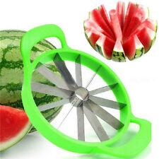 Cantaloupe Melon Watermelon Cutter Slicer Fruit Divider Kitchen Tool Green