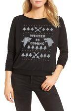 GAME OF THRONES Winter is Coming Stark Sweatshirt Sz S