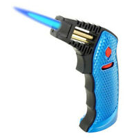 Jet Torch Table Top Lighter Heavy Duty Butane Refillable Gift Box Blue Color 20