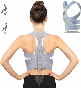 Posture Corrector for Men and Women - Adjustable Upper Back Support for Clavicle