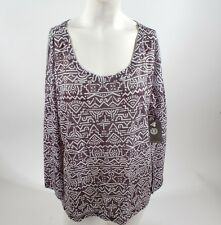 2014 NWT WOMENS ELEMENT MUSE LONG SLEEVE TOP $50 M multi black white shirt