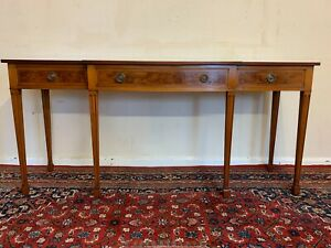 OUTSTANDING QUALITY RACKSTRAW YEW WOOD BRAKEFRONT SIDE TABLE/CONSOLE TABLE/SERVE