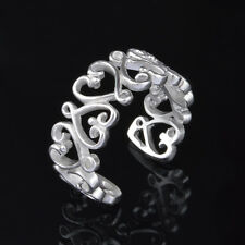 Fashion and Beayutiful Women Jewelry Solid Silver Plated Heart Ring Wedding Gift