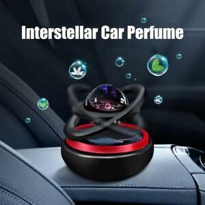 Car Solar Rotating Double Ring Suspension Aromatherapy Freshener Air P urifier