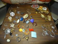 HUGE LOT OF COSTUME JEWELERY PIECES FOR WEAR & REPAIR