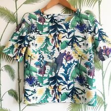 Next Bold Floral Pattern Women Top - Size 6