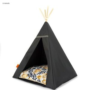 Glamour Teepee cat bed - Leaves, cat bed with pillow*luxury cat*cat tent