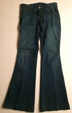 Vigoss Jeans Womens 1/2 26 Butterfly Embroiderery Pockets Flare Boot Cut Bell