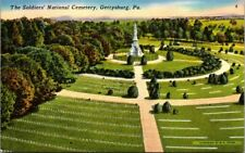 Postcard The Soldiers National Cemetery Gettysburg PA