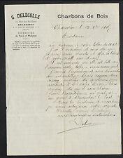 """CHARENTON-le-PONT (94) CHARBON de BOIS """"G. DELECOLLE"""" en 1915"""
