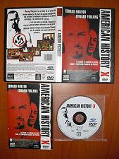 American History X [DVD] Tony Kaye, Edward Norton, Edward Furlong, Fairuza Balk