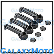 Triple Black Chrome plated ABS 4 Door Handle Cover for 2008-2012 JEEP Liberty