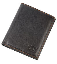 Men Cow Bifold Leather Wallet Bank Credit Card Septwolves Purse brown 310396-02