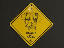 Boxer On Board Dog Breed Yellow Car Swing Sign Gift