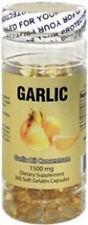 one bottle Garlic Oil, 1500mg, 300 Capsules, 3 Mon Supply