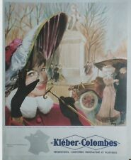 """""""KLEBER-COLOMBES (1910)""""Affiche originale entoilée offset années 60 TROY 45x55cm"""