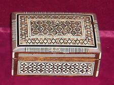 Mother of Pearl inlay wood box   Vintage 1950s-60s