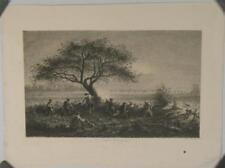 Eau forte, E. Hédouin, Scène de bataille, 1857