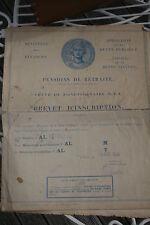 dossier pension retraite veuve fonctionnaire PTT Alsace ohnenheim 1956